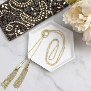 Kendra Scott Phara gold tassel necklace